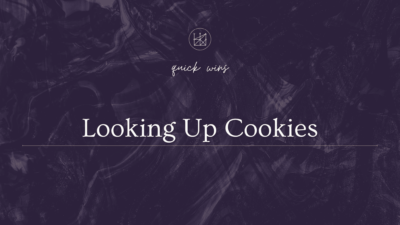 Looking Up Cookies